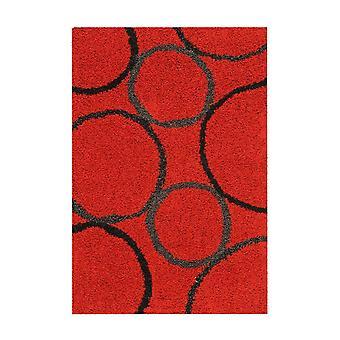 Gerston Rug Hor Red/Black