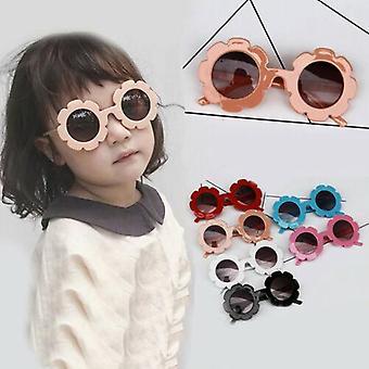 Schöne Schutz Sonnenbrille - Kinder Schattierungen Blumen entzückend niedlich gemacht (schwarz)