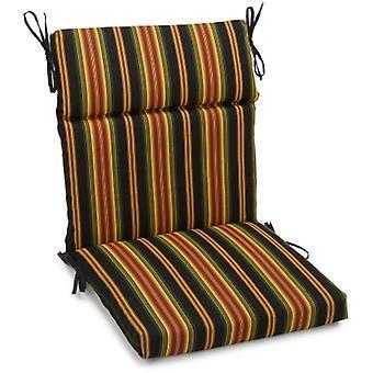 Coussin de chaise carrée extérieure en polyester de 18 pouces par 38 pouces - Lyndhurst Raven
