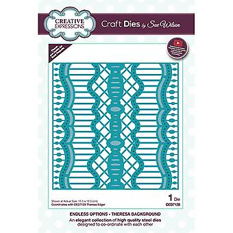 Creative Expressions Endless Options Collection Cutting Dies - Theresa Background