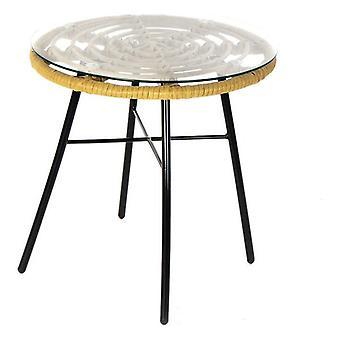 Boční stůl Dekodonia Metal Crystal Rattan (44 x 44 x 43 cm)