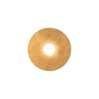 Plafón Circle Blanco 1 Bombilla Pan De Oro