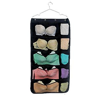 Oxford cloth double-sided visual mesh pocket storage hanging bag 31 grid