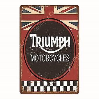 Motor Oil Metal Signs Classic Motorcycle Poster Vintage Painting Decorative