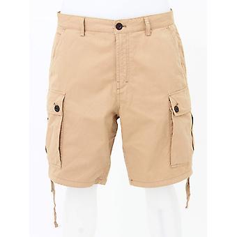 Pretty Green Cotton Cargo Shorts - Zand
