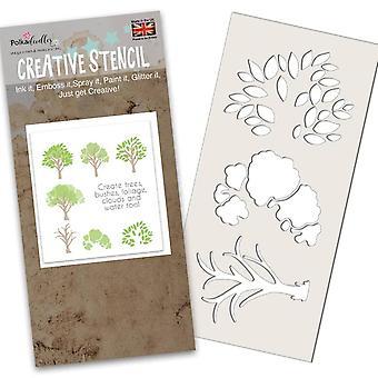 Polkadoodles Árvore-mendous Estêncil