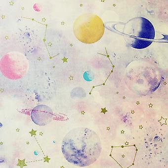 Stargazer Rosa Wallpaper Multi Arthouse 296001