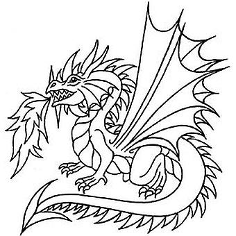SD Dragon Wood Mounted Stamp
