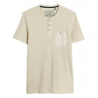 Ted Baker Tekila SS Textured Henley T-Shirt Stone