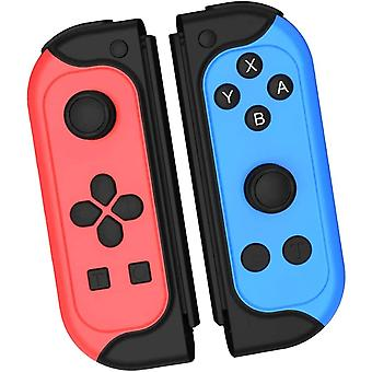 Controller for Switch, 2er-Set Controller, Bluetooth Wireless Wireless Replacement Controller Gamepad Joypad Joystick switch Support Turbo / 6-Axis Gyro / Dual Vibration(Red Blue)