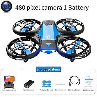 V8 ny mini drone 4k 1080p hd kamera wifi fpv lufttryckshöjd bibehåller vikbar quadcopter rc dron leksak gåva