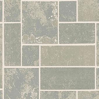 H20 Grey Marble Tile Wallpaper