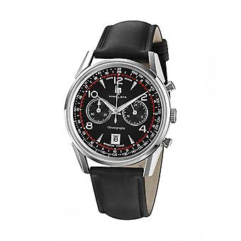 Watch LIP Watches 671592 - Mixed Black Leather Watch