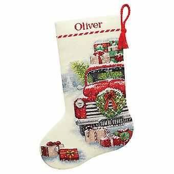 Dimensions Counted Cross Stitch: Stocking: Santa's Truck