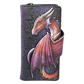 Nemesis Now Take Flight - Dombornyomott pénztárca, 18,5 cm, szín: lila, egy méret