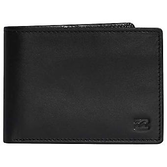 BILLABONG Vacant Leather-Wallet for Men, Men's Three-Part Folding Travel Accessory, Black, One Size