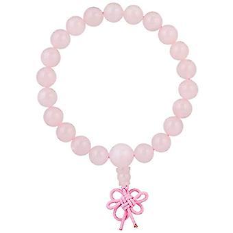 KYEYGWO 21 Mala Bracelet with Crystal Beads Chakra, unisex, Reiki Stretch, color: Pink quartz (rosary guru)., cod. Ref. 0715444069390