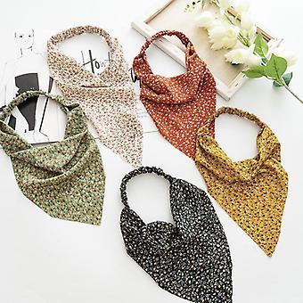 Kvinders headwrap pandebånd blomster trekantet bindemiddel elastisk bånd