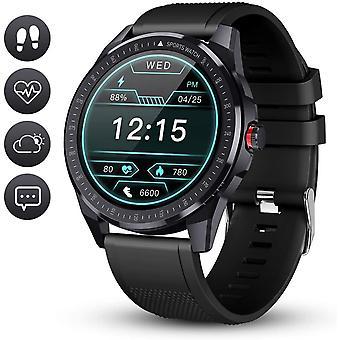 Умные часы Водонепроницаемый Спорт Смарт-часы Смарт-браслет Монитор сердечного ритма Шагомер Фитнес-трекер Активности Смарт-часы Управление музыкой для iOS Android (черный)