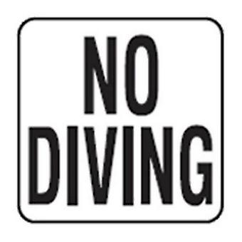 """Inlays V621501 No Diving Words 6"""" x 6"""" Vinyl 2"""" Letters Stickon"""
