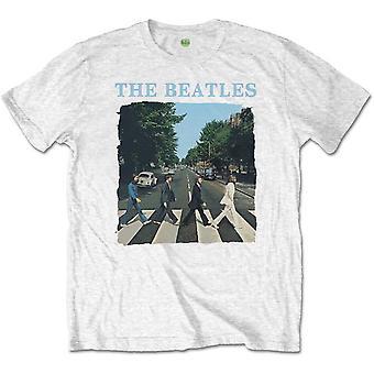 The Beatles - Abbey Road & Logo Męski duży t-shirt z krótkim rękawem - Biały