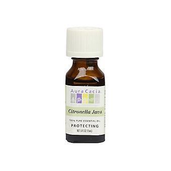 Aura Cacia Essential Oil Citronella, (cymbopagon nardus) 0.5 Fl Oz