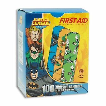 Dukal Adhesive Strip American White Cross Stat Strip 3/4 X 3 Inch Plastic Rectangle Kid Design (Batman /, Kid Design (Aquaman / Green Lantern) 100 Count