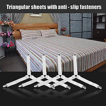 4pcs/set Multifunctional Triangle Shape Bed Sheet Fasteners Grippers Clip