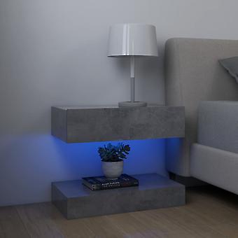 vidaXL ベッドサイドテーブル 2 PCs コンクリート グレー 60x35 cm チップボード