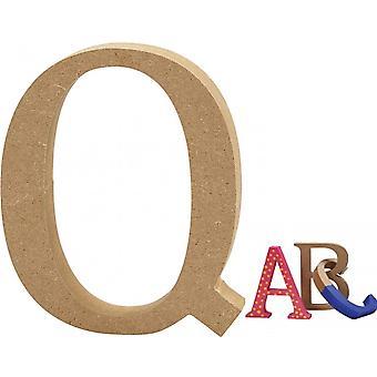 8cm Medium Wooden MDF Lettre Forme pour décorer - Q | Formes de bois pour l'artisanat