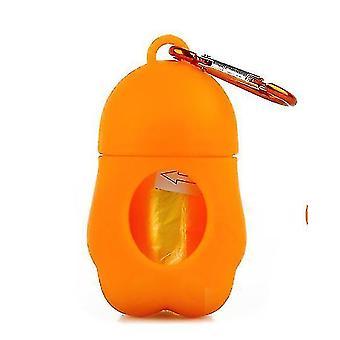 Портативный домашний мешок для мусора кошка и собака сборщик туалета (оранжевый)