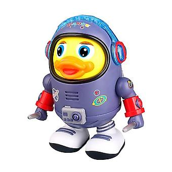 Electric interactive dancing space ducks puzzle enlightenment light music swing dancing robot montessori educational toys