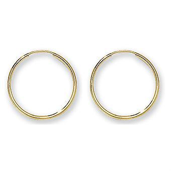 HS Johnson HSJ-ES112 Women's 9ct 18mm Gold Sleepers Earrings