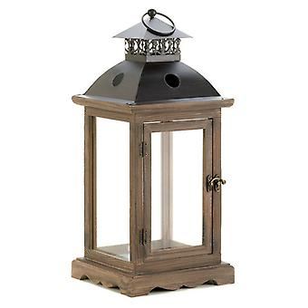 Gallery of Light Wood Frame Candle Lantern - 18.5 inches, Pack of 1
