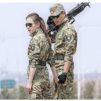 Schwarzer Armeeanzug Männer Taktische Jagdkleidung Tarnung Militäruniform