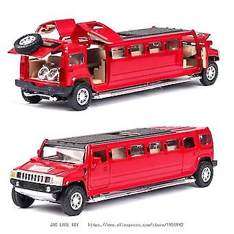 Toy cars 1:32alloy hummer limousine metal car model red