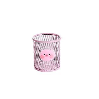 2Pcs Desktop Pink Eisen Aufbewahrungsbox Makeuo Organizer Kleinigkeiten Aufbewahrungskorb Tisch Schreibwaren