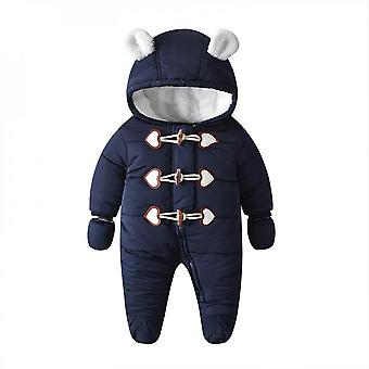 Baby Winter Clothing Jumpsuit Thickened Warm Baby Cotton-padded Clothes