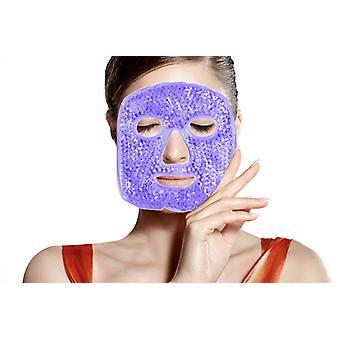 Podgrzewana ciepła chłodzenie wielokrotnego użytku Żel Koraliki Ice Mask, gorąca terapia na zimno ból twarzy