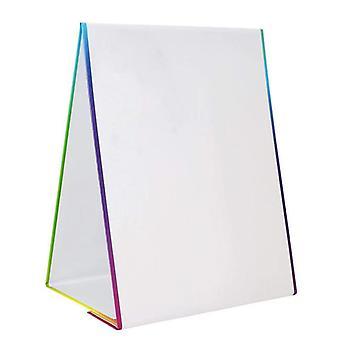 Chevalet magnétique Effacer à sec Carte blanche Carte à dessin de bureau avec 4 marqueurs