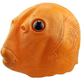 Máscara de látex de peixe verde unissex