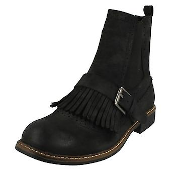 Dames down to Earth vlakke Ankle Boots F50568