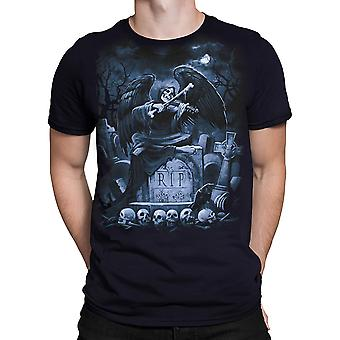 Vloeibare Blue-r. i. p Reaper-t-shirt korte mouwen.