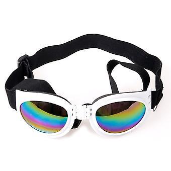 DIGIFLEX Faltung einstellbare Brille Hund Sonnenbrillen in weiß