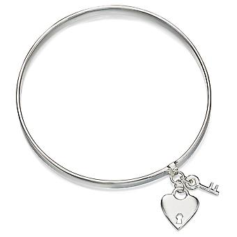 925 zilveren sleutel en hart armband