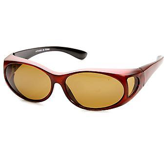 Spolaryzowane pokrywa pasuje na nakładania się pełnej ochrony okulary