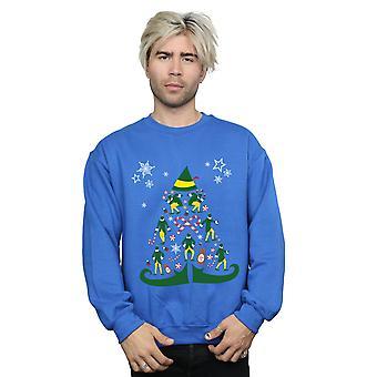 Sweatshirt d'arbre de Noël elfe masculin