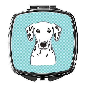 Carolines Treasures  BB1148SCM Checkerboard Blue Dalmatian Compact Mirror