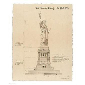 تمثال الحرية نيويورك طباعة ملصق من إيف بوينسوت (11 × 14)
