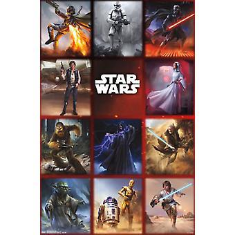 Star Wars - momentos grade Poster Poster Print